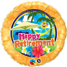 "Retirement Sunshine Foil Balloon (18"") 1pc"